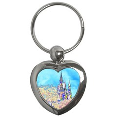 Castle for a Princess Key Chain (Heart)