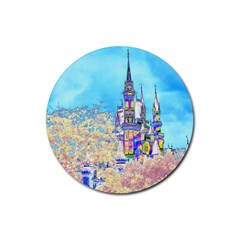 Castle for a Princess Drink Coaster (Round)