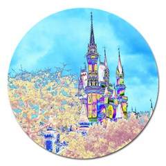 Castle for a Princess Magnet 5  (Round)