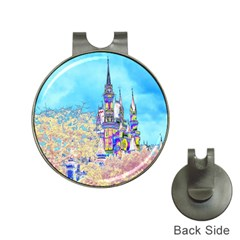 Castle For A Princess Hat Clip With Golf Ball Marker