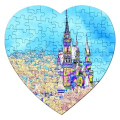 Castle for a Princess Jigsaw Puzzle (Heart)