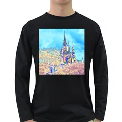 Castle for a Princess Men s Long Sleeve T-shirt (Dark Colored)