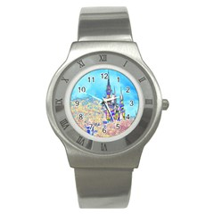 Castle For A Princess Stainless Steel Watch (slim)