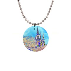 Castle for a Princess Button Necklace