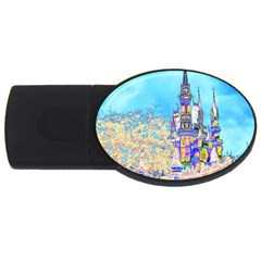 Castle For A Princess 4gb Usb Flash Drive (oval)