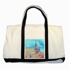 Castle for a Princess Two Toned Tote Bag