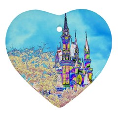 Castle for a Princess Heart Ornament (Two Sides)