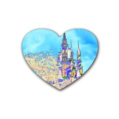 Castle for a Princess Drink Coasters (Heart)