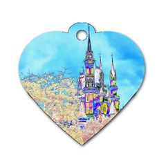 Castle for a Princess Dog Tag Heart (Two Sided)