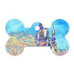 Castle for a Princess Dog Tag Bone (Two Sided)
