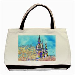 Castle For A Princess Twin Sided Black Tote Bag