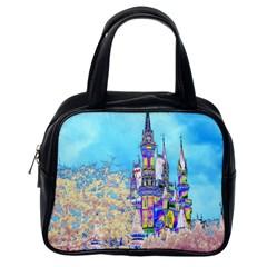 Castle For A Princess Classic Handbag (one Side)