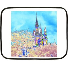 Castle For A Princess Mini Fleece Blanket (two Sided)
