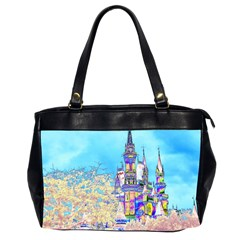 Castle for a Princess Oversize Office Handbag (Two Sides)
