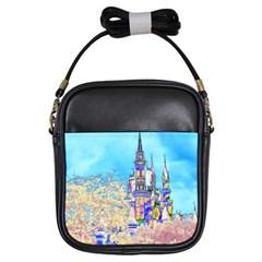 Castle For A Princess Girl s Sling Bag