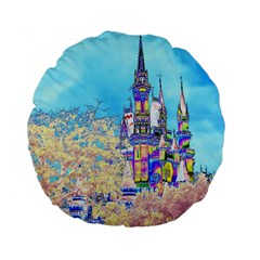 Castle for a Princess 15  Premium Round Cushion