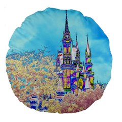 Castle for a Princess 18  Premium Round Cushion