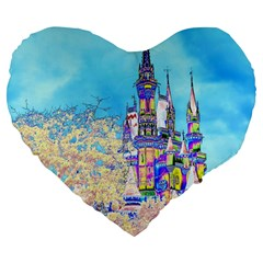 Castle for a Princess 19  Premium Heart Shape Cushion