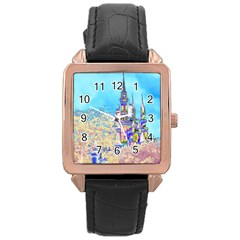 Castle for a Princess Rose Gold Leather Watch