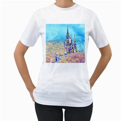 Castle for a Princess Women s T-Shirt (White)