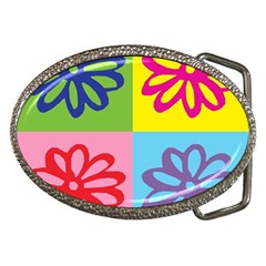 Flower Belt Buckle (Oval)