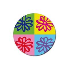 Flower Drink Coasters 4 Pack (Round)