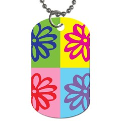 Flower Dog Tag (two Sided)
