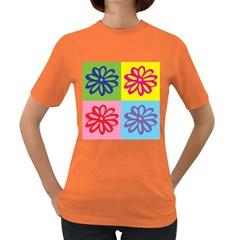 Flower Women s T-shirt (Colored)