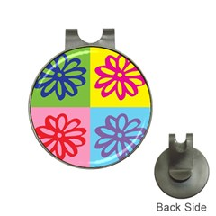 Flower Hat Clip With Golf Ball Marker