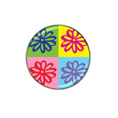 Flower Golf Ball Marker 10 Pack (for Hat Clip)