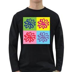 Flower Men s Long Sleeve T-shirt (Dark Colored)