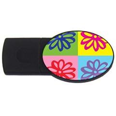 Flower 4GB USB Flash Drive (Oval)