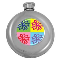 Flower Hip Flask (Round)