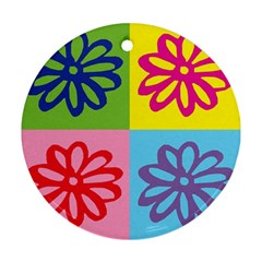 Flower Round Ornament (Two Sides)