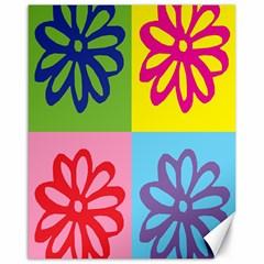 Flower Canvas 16  x 20  (Unframed)