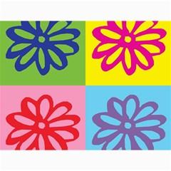 Flower Canvas 18  x 24  (Unframed)
