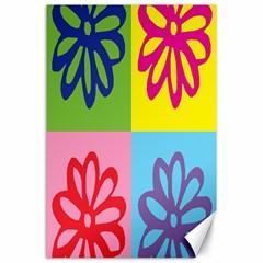 Flower Canvas 24  x 36  (Unframed)