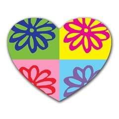 Flower Mouse Pad (Heart)