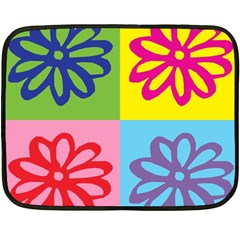 Flower Mini Fleece Blanket (Two Sided)