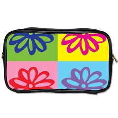Flower Travel Toiletry Bag (one Side)