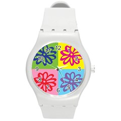 Flower Plastic Sport Watch (Medium)