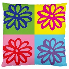 Flower Large Cushion Case (Two Sided)