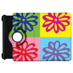 Flower Kindle Fire HD 7  (1st Gen) Flip 360 Case