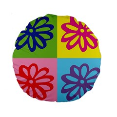 Flower 15  Premium Round Cushion
