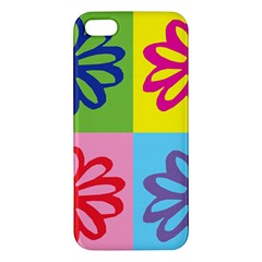 Flower Apple Iphone 5 Premium Hardshell Case