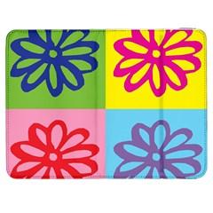 Flower Samsung Galaxy Tab 7  P1000 Flip Case