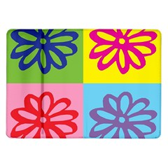 Flower Samsung Galaxy Tab 10.1  P7500 Flip Case