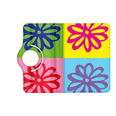 Flower Kindle Fire HD 7  (2nd Gen) Flip 360 Case