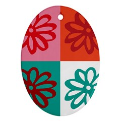 Flower Oval Ornament