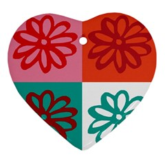 Flower Heart Ornament